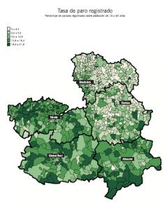 Atlas CLM - Tasa de paro registrado