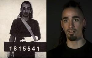 Rodri en foto policial y en la actualidad