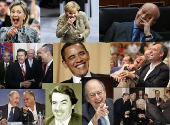 Políticos riendo