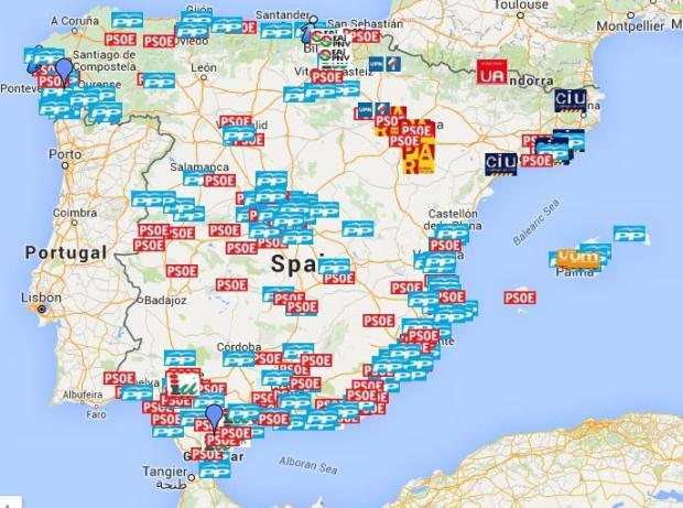 Mapa interactivo de la corrupción en España