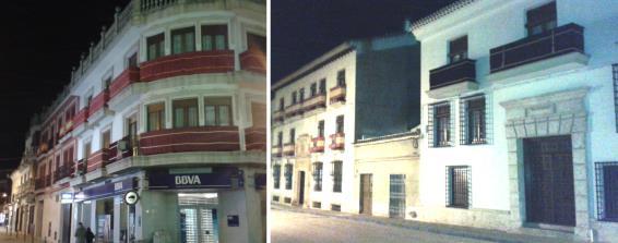 Balcones engalanados en la callesde Santa María . Semana Santa de Villarrobledo