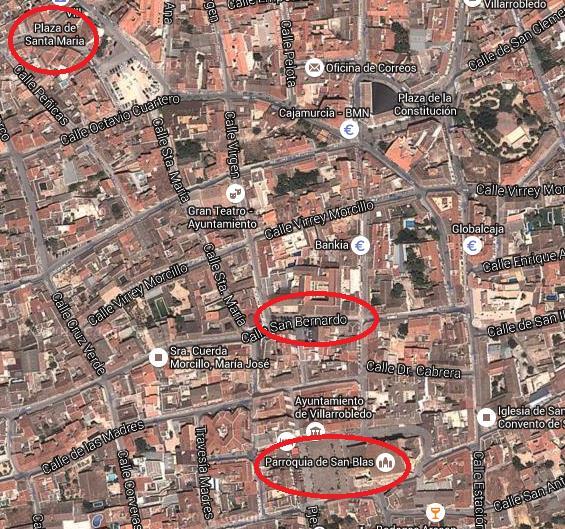 Plano del centro de Villarrobledo