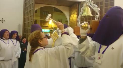 El toque de campana del Cristo de Medinaceli. Semana Santa de Villarrobledo