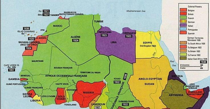 Colonización de África: 1920-1939