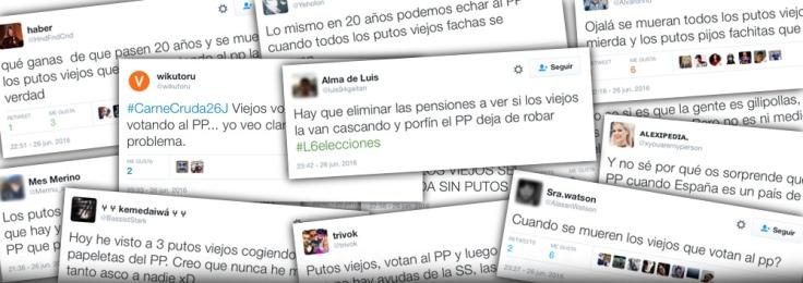 El sector oscuro de Twitter contra los pensionistas.