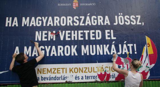 Publicidad xenófoba del gobierno polaco
