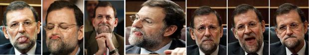 Caras de Rajoy
