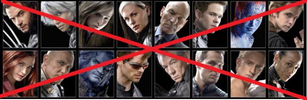X-Men tachados