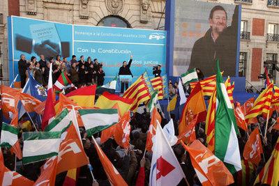 Acto contra el Estatuto de 2006 organizado por el Partido Popular