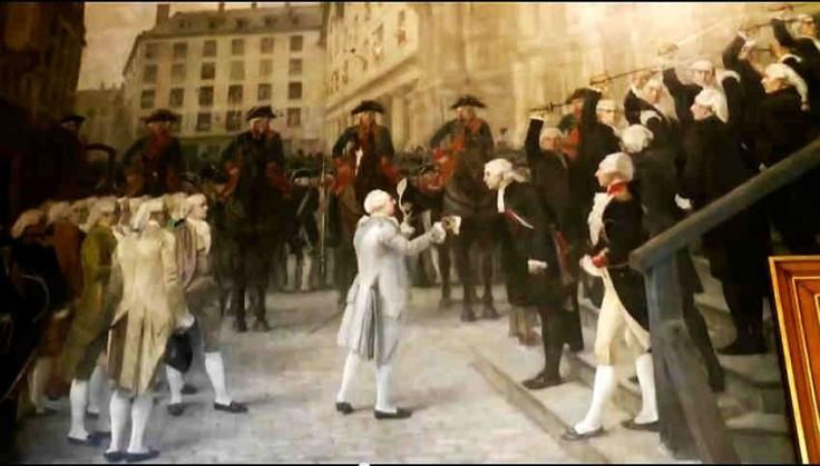Recepción de Luis XVI en la alcaldía de París