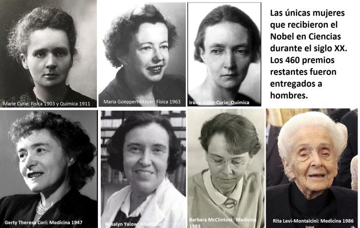 Mujeres que recibieron el nobel en el siglo XX
