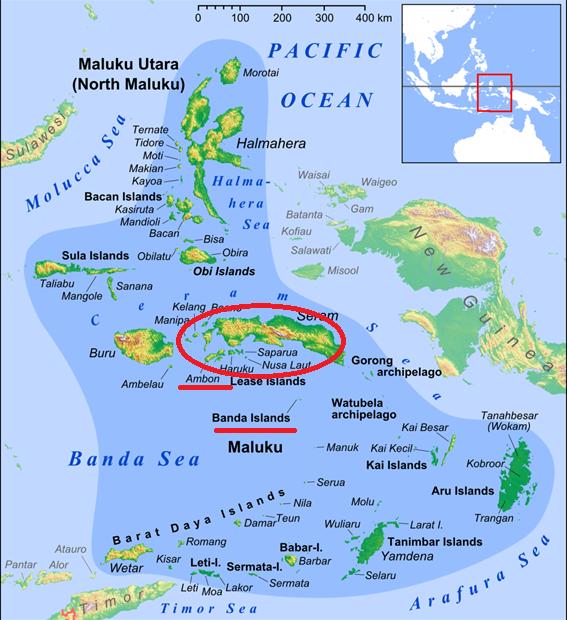 Mapa de Maluku