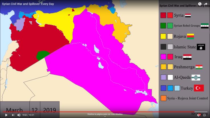 Mapa guerra Siria MAR19