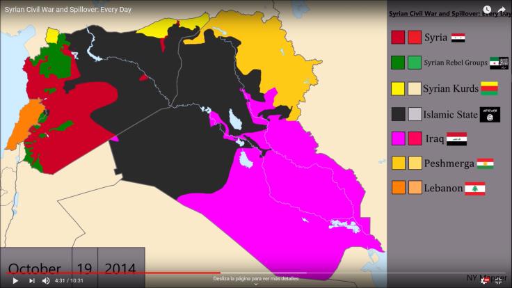 Mapa guerra Siria OCT14